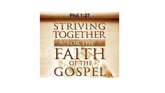 Striving For the Faith of the Gospel PDF